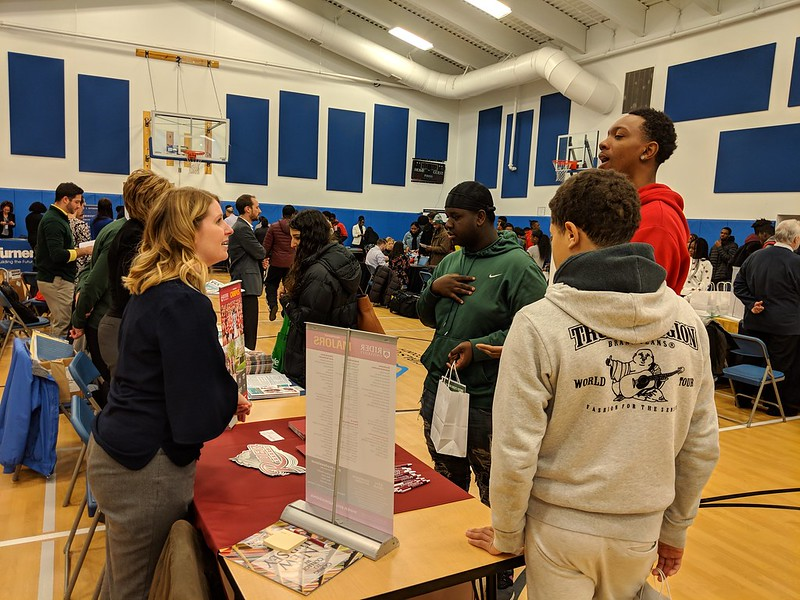 College, Career and Job Fair at our Spruce Street Gym in 2019